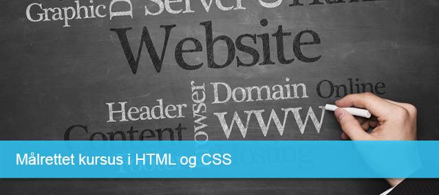 Målrettet kursus i HTML CSS