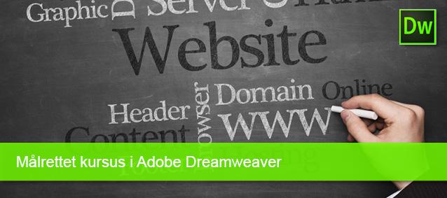 Målrettet kursus i Adobe Dreamweawer