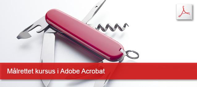 Målrettet kursus i Adobe Acrobat