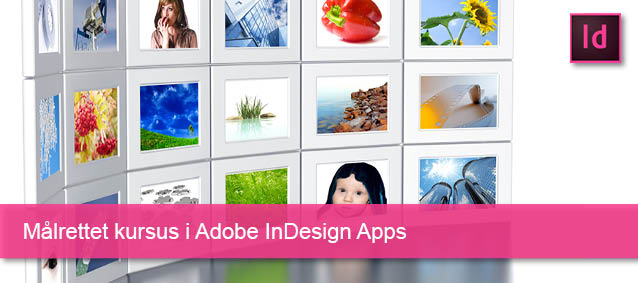 Målrettet kursus i Adobe InDesign Apps