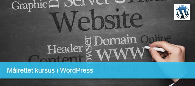 Målrettet kursus i WordPress